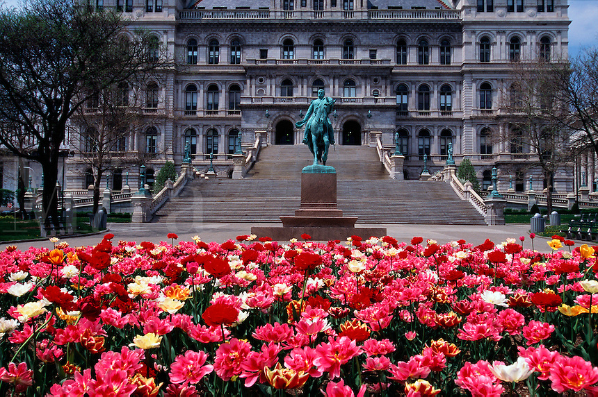 Horizontal view of New York State Capitol building, Albany, New York