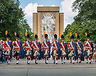 Sep 8, 2012; The Irish Guard march into the stadium...Photo by Matt Cashore