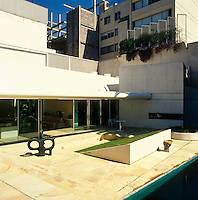 View of the property from the central courtyard and swimming pool