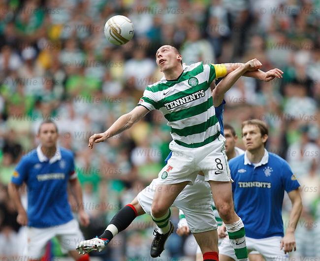 Scott Brown battling in mid air