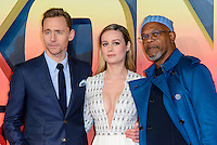 www.acepixs.com<br /> <br /> February 28 2017, London<br /> <br /> Tom Hiddleston, Brie Larson and Samuel L. Jackson arriving at the European premiere Of 'Kong: Skull Island' on February 28, 2017 in London<br /> <br /> By Line: Famous/ACE Pictures<br /> <br /> <br /> ACE Pictures Inc<br /> Tel: 6467670430<br /> Email: info@acepixs.com<br /> www.acepixs.com