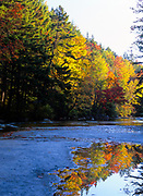 Autumn colors along the Swift River. Located near the Kancamagus Highway (route 112) in the White Mountain National Forest of New Hampshire, USA