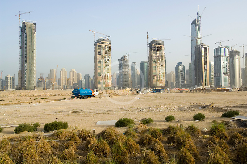 United Arab Emirates, Dubai, Dubai Marina, construction site