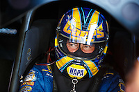 Sep 23, 2016; Madison, IL, USA; NHRA funny car driver Ron Capps during qualifying for the Midwest Nationals at Gateway Motorsports Park. Mandatory Credit: Mark J. Rebilas-USA TODAY Sports