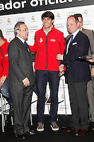Real Madrid player Kaka (c) and the President Florentino Perez participate and receive new Audi during the presentation of Real Madrid's new cars made by Audi at the Jarama racetrack on November 8, 2012 in Madrid, Spain.(ALTERPHOTOS/Harry S. Stamper) .<br /> &copy;NortePhoto