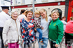 Enjoying the atmosphere as the crowds gather for the arrival of the Special Olympics torch in the Mall on Monday afternoon. <br /> L-r, Chris Griffin (Monalee), Brenda Griffin (Shanakill), Nathan Swan (Fairway Heights), Elisabeth Kuehling (Fairway Heights) and Lauren O&rsquo;Sullivan (Mounthawk).