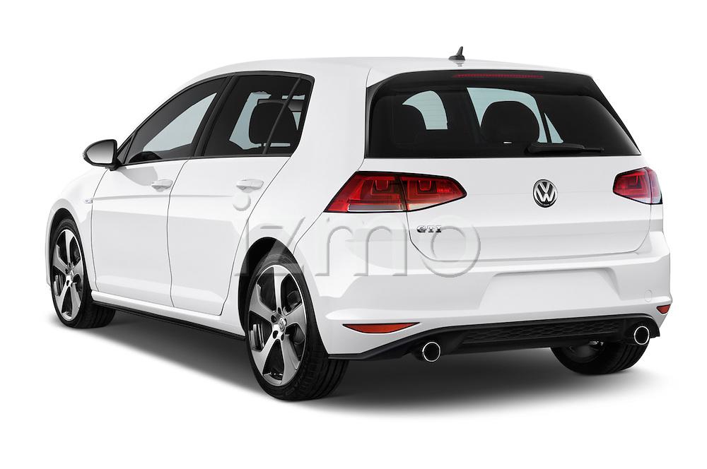 Car pictures of rear three quarter view of a 2015 Volkswagen GTI DSG SE PZEV 5 Door Hatchback Angular Rear
