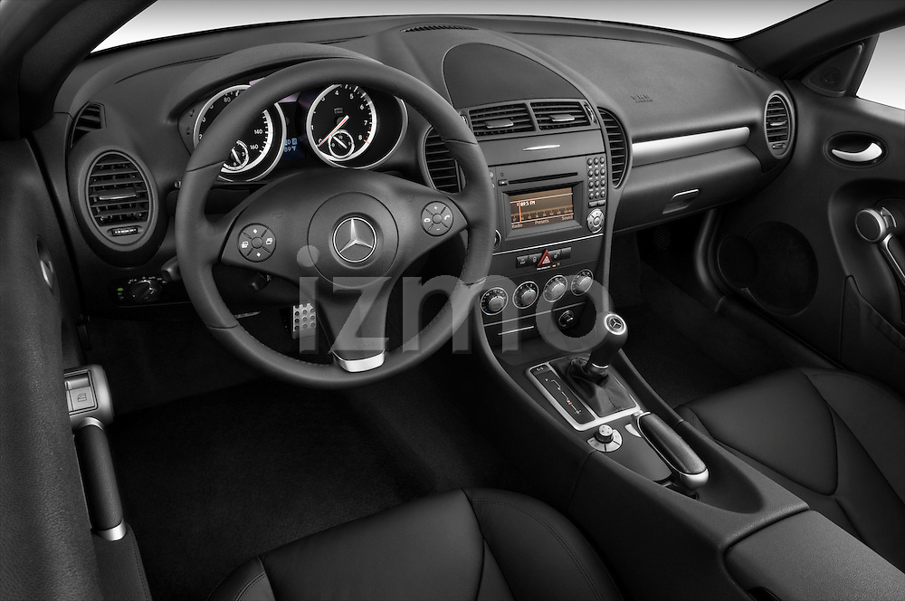 High angle dashboard view of a 2009 Mercedes SLK Class 350