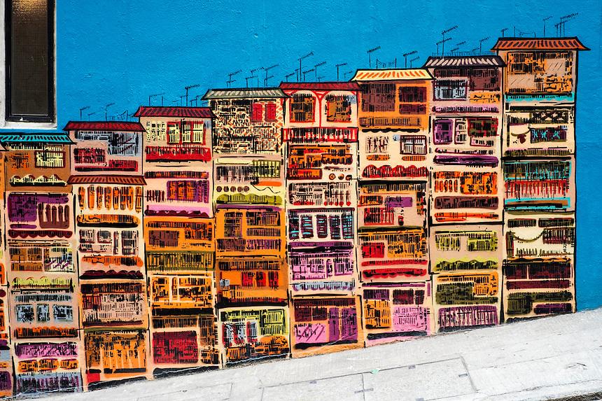 Street Art Graham Street ( off Hollywood Road) in Soho Hong Kong Island Hong Kong. Opposite the Globe Pub..Pic Jayne Russell +852 97578607..Date-20.01.2013..20th January 2013