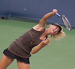 Maria Sharapova (RUS) moves into the Finals at the Western and Southern Financial Group Masters Series in Cincinnati on August 20, 2011. after defeating Vera Zvonareva.  Sharapova won, 2-6, 6-3,6-3.