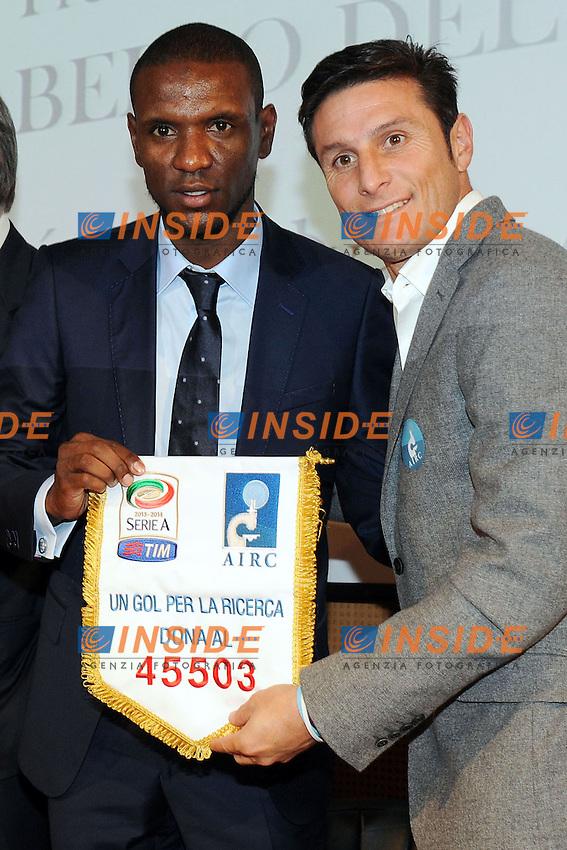 Eric Abidal, Javier Zanetti Milano 04/11/2013 - premio internazionale 'Il bello del calcio' foto Andrea Ninni / Image Sport / Insidefoto