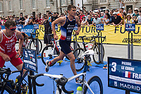 Raphael Montoya of France during the 2017 Madrid ITU Triathlon World Cup in Madrid, May 28, 2017. Spain.. (ALTERPHOTOS/Rodrigo Jimenez) /NortePhoto.com