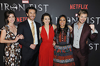 www.acepixs.com<br /> March 15, 2017  New York City<br /> <br /> Jessica Stroup, Tom Pelphrey, Jessica Henwick, Rosario Dawson and  Finn Jones attending Marvel's 'Iron Fist' New York screening at AMC Empire 25 on March 15, 2017 in New York City.<br /> <br /> Credit: Kristin Callahan/ACE Pictures<br /> <br /> <br /> Tel: 646 769 0430<br /> Email: info@acepixs.com