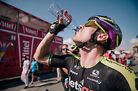 hydration required for Michael Hepburn (AUS/Michelton-Scott) post-race<br /> <br /> Stage 2: Mouilleron-Saint-Germain &gt; La Roche-sur-Yon (183km)<br /> <br /> Le Grand D&eacute;part 2018<br /> 105th Tour de France 2018<br /> &copy;kramon