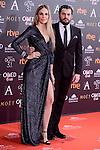 Carola Baleztena and Emiliano Suarez attends to the Red Carpet of the Goya Awards 2017 at Madrid Marriott Auditorium Hotel in Madrid, Spain. February 04, 2017. (ALTERPHOTOS/BorjaB.Hojas)