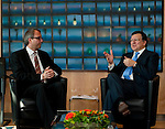 Brussels-Belgium - April 22, 2013 -- Members / judges of the German Federal Constitutional Court meet with the European Commission; here, Jose (José) Manuel BARROSO (ri), President of the European Commission, with Prof. Dr. Andreas VOSSKUHLE (le), President of the Court -- Photo: © HorstWagner.eu