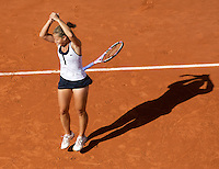 Dominika Cibulkova (SVK) (20)  against Maria Sharapova (RUS) in the Quarterfinals of the Women's Singles. Cibulkova beat Sharapova 6-0 6-2..Tennis - French Open - Day 10 - Tues 2nd June 2009 - Roland Garros - Paris - France..Frey Images, Barry House, 20-22 Worple Road, London, SW19 4DH.Tel - +44 20 8947 0100.Cell - +44 7843 383 012