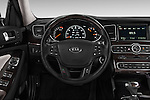 Steering wheel view of a 2014 KIA Cadenza Sedan