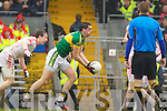 Anthony Maher, Kerry in action against Christopher Cross Tyrone in the fourth round of the National Football league at Fitzgerald Stadium, Killarney on Sunday.