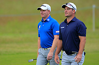 Richard McEvoy (ENG) and Ryan Fox (NZL) on the 10th during Round 2 of the Aberdeen Standard Investments Scottish Open 2019 at The Renaissance Club, North Berwick, Scotland on Friday 12th July 2019.<br /> Picture:  Thos Caffrey / Golffile<br /> <br /> All photos usage must carry mandatory copyright credit (© Golffile | Thos Caffrey)
