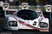 LE MANS, FRANCE: Ted Field drives the Porsche CK5 during practice for the 24 Hours of Le Mans on June 20, 1982, at Circuit de la Sarthe in Le Mans, France. Field's co-drivers for the event were Danny Ongais and Bill Whittington.