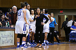 13 November 2016: Duke head coach Joanne P. McCallie. The Duke University Blue Devils hosted the University of Pennsylvania Quakers at Cameron Indoor Stadium in Durham, North Carolina in a 2016-17 NCAA Division I Women's Basketball game. Duke defeated Penn 68-55.