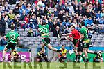 Bernard Murphy Glenbeigh Glencar in action against Padraig Griffin Rock Saint Patricks in the Junior Football All Ireland Final in Croke Park on Sunday.