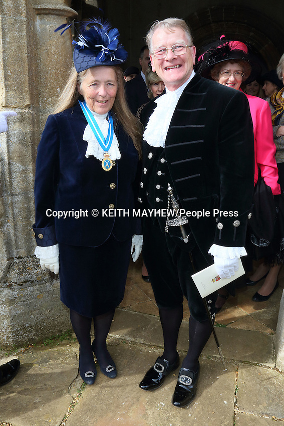 The Countess of Erroll, Bedfordshire High Sheriff 2015/16 Installation Service at St. Mary's Church, Everton, Sandy, Bedfordshire on Sunday 29th March 2015<br /> <br /> Photo by Keith Mayhew