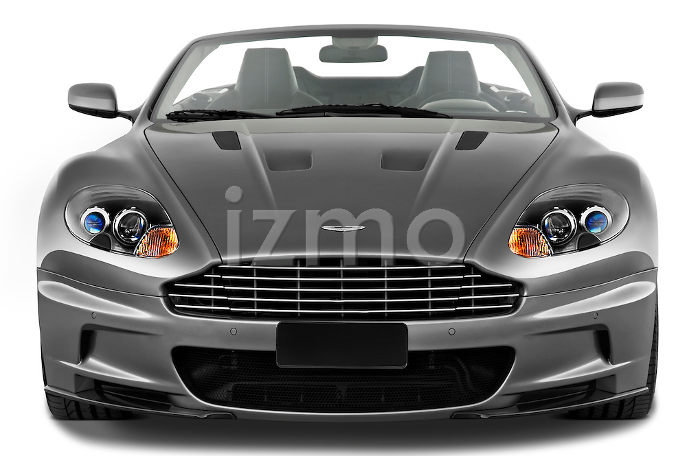 Straight front view of a 2007 - 2012 Aston Martin DBS Volante Convertible.