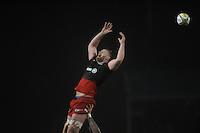 George Kruis of Saracens shows his disappointment as he misses the lineout throw during the Premiership Rugby match between Saracens and Leicester Tigers - 02/01/2016 - Allianz Park, London<br /> Mandatory Credit: Rob Munro/Stewart Communications