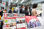 Visitors gather at the Japan Halal Expo 2015 on November 25, 2015, Chiba, Japan. The Japan Halal Expo 2015 is a trade show which introduces various Japanese Halal products and services held at Makuhari Messe International Convention Complex. About 100 companies and organizations attend this year's two day event aiming to make Japan more friendly to Muslim visitors. This year's main sponsor is YouCoJapan, a website which provides information for Muslim travelers to Japan and business consultation about the Muslim markets. Organizers estimated that approximately 3,280 visitors attended in 2014 and similar numbers are expected this year. In 2013, the Japan National Tourist Organisation reported that the tourists from Muslim-Majority countries including Malaysia and Indonesia increased thanks to visa relaxations, and Japan hopes to continue to attract even more. (Photo by Rodrigo Reyes Marin/AFLO)