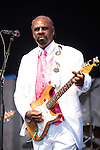 Rodney Glynn Armstrong 'Guitar Slim Jr.' performs during the New Orleans Jazz & Heritage Festival in New Orleans, LA.