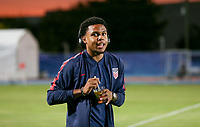 GEORGETOWN, GRAND CAYMAN, CAYMAN ISLANDS - NOVEMBER 19: Weston McKennie #8 of the United States walks to the field during a game between Cuba and USMNT at Truman Bodden Sports Complex on November 19, 2019 in Georgetown, Grand Cayman.