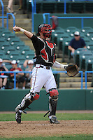 University of Louisville Cardinals catcher Shane Crain (41) during a game against the Temple University Owls at Campbell's Field on May 10, 2014 in Camden, New Jersey. Temple defeated Louisville 4-2.  (Tomasso DeRosa/ Four Seam Images)
