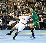 11.01.2019, Mercedes Benz Arena, Berlin, GER, BRA vs. FRA, im Bild <br /> Jose Toledo (BRA #10), Timothey N Guessan (FRA #17)<br /> <br />      <br /> Foto &copy; nordphoto / Engler