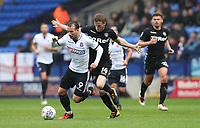 Bolton Wanderers' Adam Le Fondre in action during todays match<br /> <br /> Photographer Rachel Holborn/CameraSport<br /> <br /> The EFL Sky Bet Championship - Bolton Wanderers v Leeds United - Sunday 6th August 2017 - Macron Stadium - Bolton<br /> <br /> World Copyright &copy; 2017 CameraSport. All rights reserved. 43 Linden Ave. Countesthorpe. Leicester. England. LE8 5PG - Tel: +44 (0) 116 277 4147 - admin@camerasport.com - www.camerasport.com