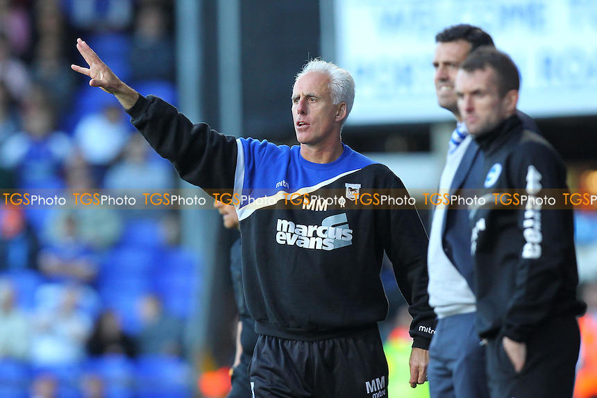 Ipswich Town manager Mick McCarthy - Ipswich Town vs Brighton & Hove Albion - Sky Bet Championship Football at Portman Road, Ipswich, Suffolk - 28/09/13 - MANDATORY CREDIT: Gavin Ellis/TGSPHOTO - Self billing applies where appropriate - 0845 094 6026 - contact@tgsphoto.co.uk - NO UNPAID USE