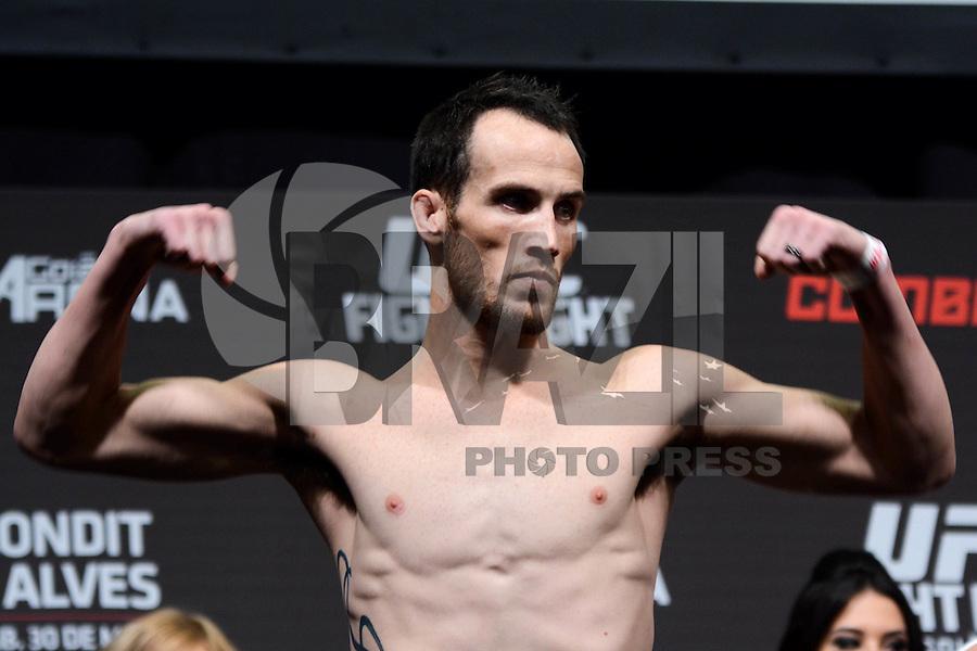 GOIÂNIA, GO, 29.05.2015 – UFC-GOIÂNIA – Rony Jason durante pesagem para o UFC Goiânia  no Goiânia Arena em Goiânia na tarde desta sexta-feira, 29. (Foto: Ricardo Botelho / Brazil Photo Press)