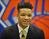Kevin Knox, selected by the New York Knicks in the first round (ninth overall) of the 2018 NBA Draft, poses for portraits during his introductory news conference at Madison Square Garden Training Center in Greenburgh, NY on Friday, June 22, 2018.