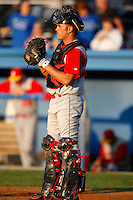 August 5, 2009:  Catcher Dock Doyle of the Brooklyn Cyclones during a game at Dwyer Stadium in Batavia, NY.  The Cyclones are the Short-Season Class-A affiliate of the New York Mets.  Photo By Mike Janes/Four Seam Images