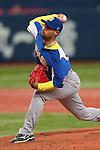 Rafael Fernandes (BRA), .February 26, 2013 - WBC : .2013 World Baseball Classic, Exhibithion Game .match between Brazil 2-6 ORIX Buffaloes .at Kyocera Dome, Osaka, Japan..(Photo by AJPS/AFLO SPORT)
