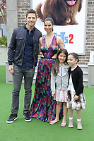 """LOS ANGELES - JUN 2:  Eric Winter, Roselyn Sanchez, Sebella Rose Winter, Guest at the """"The Secret Life of Pets 2"""" Premiere at the Village Theater on June 2, 2019 in Westwood, CA"""