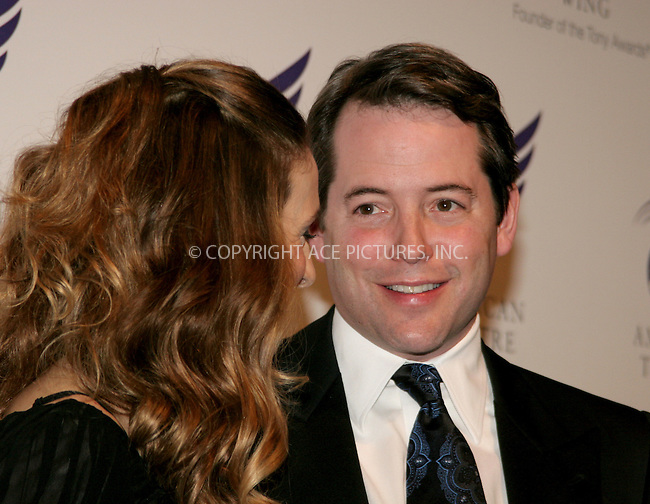 WWW.ACEPIXS.COM . . . . .  ....NEW YORK, APRIL 10, 2006....Sarah Jessica Parker and Matthew Broderick at the American Theatre Wing's Annual Spring Gala Honoring Matthew Broderick and Nathan Lane.....Please byline: NANCY RIVERA- ACEPIXS.COM.... *** ***..Ace Pictures, Inc:  ..Craig Ashby (212) 243-8787..e-mail: picturedesk@acepixs.com..web: http://www.acepixs.com