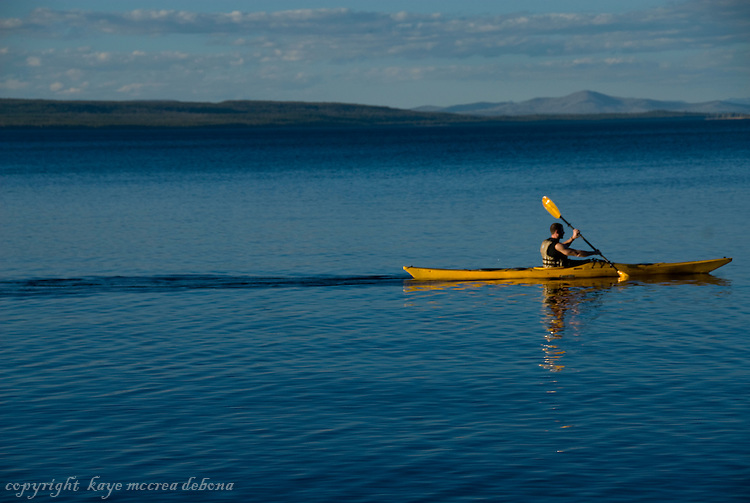 Kayaking on Lake Yellowstone