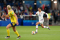 LE HAVRE, FRANCE - JUNE 20: Christen Press #23 during a 2019 FIFA Women's World Cup France group F match between the United States and Sweden at Stade Océane on June 20, 2019 in Le Havre, France.