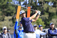 Chez Reavie (USA) tees off the 6th tee during Sunday's Final Round of the 2018 AT&amp;T Pebble Beach Pro-Am, held on Pebble Beach Golf Course, Monterey,  California, USA. 11th February 2018.<br /> Picture: Eoin Clarke | Golffile<br /> <br /> <br /> All photos usage must carry mandatory copyright credit (&copy; Golffile | Eoin Clarke)
