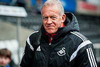 Alan Curtis, First-team coach of Swansea City arrives at the Liberty Stadium the Barclays Premier League match between Swansea City and Southampton  played at the Liberty Stadium, Swansea  on February 13th 2016