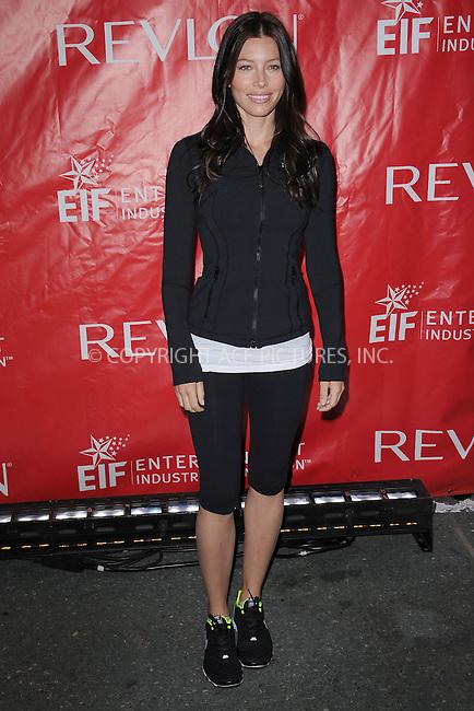WWW.ACEPIXS.COM . . . . . .April 30, 2011...New York City...Jessica Biel attends the 14th Annual EIF Revlon Run/Walk For Women in Time Square on April 30, 2011 in New York City....Please byline: KRISTIN CALLAHAN - ACEPIXS.COM.. . . . . . ..Ace Pictures, Inc: ..tel: (212) 243 8787 or (646) 769 0430..e-mail: info@acepixs.com..web: http://www.acepixs.com .