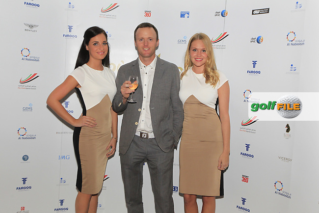 Michael Hoey during the 2015 Abu Dhabi Invitational Gala Evening held at The Viceroy Hotel, Yas Island, Abu Dhabi.: Picture Eoin Clarke, www.golffile.ie: 1/25/2015