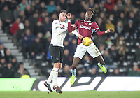 Derby County's Richard Keogh battles with  Aston Villa's Tammy Abraham <br /> <br /> Photographer Mick Walker/CameraSport<br /> <br /> The EFL Sky Bet Championship - Derby County v Aston Villa - Saturday 10th November 2018 - Pride Park - Derby<br /> <br /> World Copyright &copy; 2018 CameraSport. All rights reserved. 43 Linden Ave. Countesthorpe. Leicester. England. LE8 5PG - Tel: +44 (0) 116 277 4147 - admin@camerasport.com - www.camerasport.com